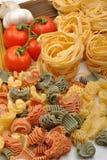 新鲜的意大利有机意大利面食蔬菜 库存图片