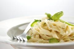 新鲜的意大利面食素食主义者 免版税库存图片
