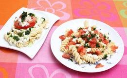 新鲜的意大利面食 图库摄影
