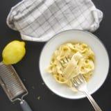 新鲜的意大利面食 免版税库存照片
