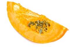 新鲜的成熟南瓜 健康饮食的菜 图库摄影