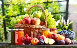 新鲜的成熟有机果子在庭院里 bakeshop 库存图片