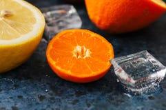 新鲜的成熟柑橘水果的混合当血橙,普通话, le 图库摄影