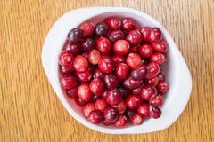 新鲜的成熟红色蔓越桔 免版税库存照片