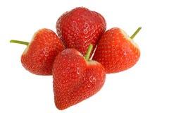 新鲜的成熟肥满水多的甜草莓 免版税库存图片