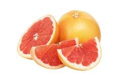 新鲜的成熟葡萄柚 免版税库存图片