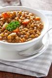 新鲜的扁豆汤 库存照片