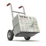 新鲜的报纸 免版税图库摄影