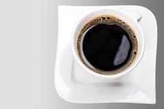 新鲜的无奶咖啡 免版税库存照片
