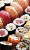 新鲜的日本寿司 免版税库存图片