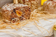 新鲜的有机家制面包 库存照片