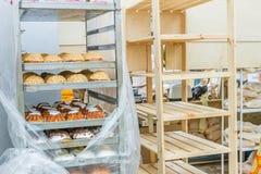 新鲜的有机家制面包 免版税图库摄影