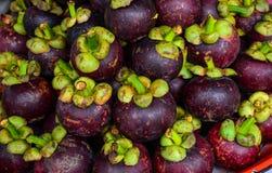 新鲜的有机山竹果树果子 免版税图库摄影