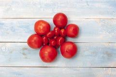 新鲜的有机成熟蕃茄 免版税库存图片