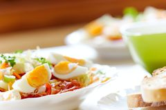 新鲜的有机沙拉 免版税库存图片