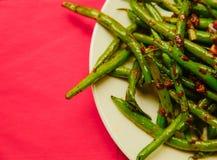 新鲜的有机煮熟的青豆 免版税库存照片