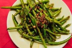 新鲜的有机煮熟的青豆 免版税库存图片