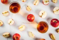 新鲜的有机苹果汁 免版税库存图片