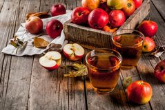新鲜的有机苹果汁 免版税图库摄影