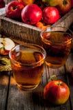 新鲜的有机苹果汁 图库摄影