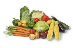 新鲜的有机菜品种 库存图片