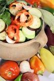 新鲜的有机蔬菜 库存图片