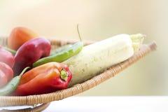新鲜的有机蔬菜 库存照片