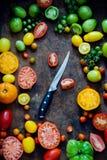 新鲜的有机蕃茄 库存图片