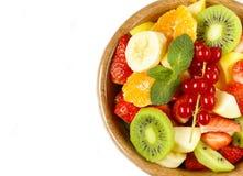 新鲜的有机水果沙拉 图库摄影