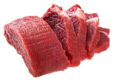 新鲜的未加工的牛排肉 免版税库存照片