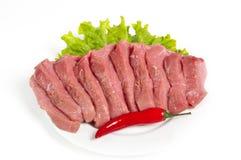 新鲜的未加工的牛肉 库存照片