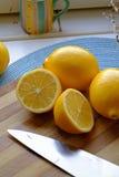 新鲜的柠檬切画象庄稼 免版税库存图片