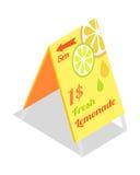 新鲜的柠檬水广告横幅 目录指南 皇族释放例证