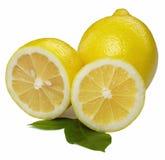 新鲜的查出的柠檬 免版税库存照片