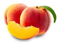 新鲜的查出的桃子 免版税库存照片