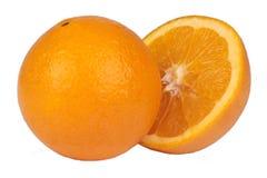 新鲜的查出的桔子 免版税库存照片