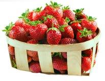 新鲜的查出的草莓 免版税图库摄影