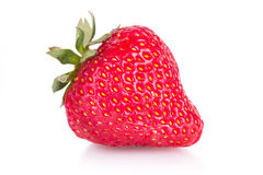 新鲜的查出的草莓 库存图片