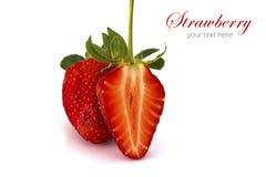 新鲜的查出的草莓 图库摄影