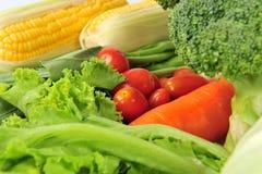 新鲜的查出的蔬菜 免版税图库摄影