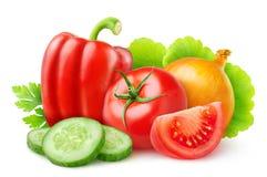 新鲜的查出的蔬菜 免版税库存照片