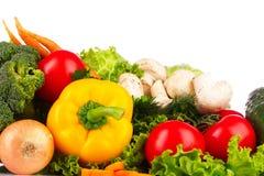 新鲜的查出的集合蔬菜 免版税图库摄影