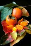 新鲜的柿子 库存照片