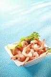 新鲜的桃红色大虾开胃菜 免版税图库摄影