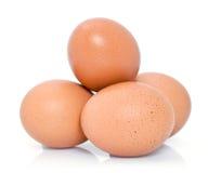新鲜的棕色鸡鸡蛋 库存照片