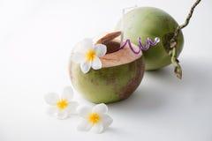 新鲜的椰子水 图库摄影
