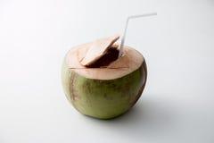 新鲜的椰子水 免版税库存照片