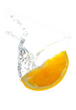 新鲜的橙色飞溅 免版税库存照片