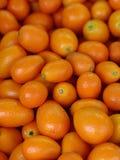 新鲜的橙色cumquat柑橘水果 免版税库存照片