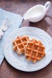 新鲜的比利时华夫饼干 免版税图库摄影
